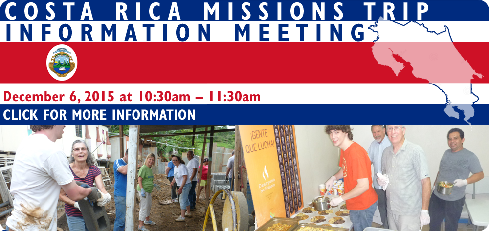 Costa Rica Mission Trip 2016 Information Meeting